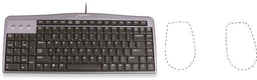 Image showing Evoluent Mouse Friendly Keyboard and improved mouse placement